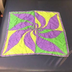 """VERA Gorgeous silk vintage modern scarf 26"""" x 26"""""""